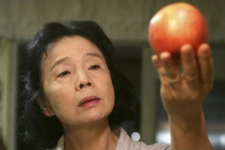 در حال احساس کردن یک سیب ...